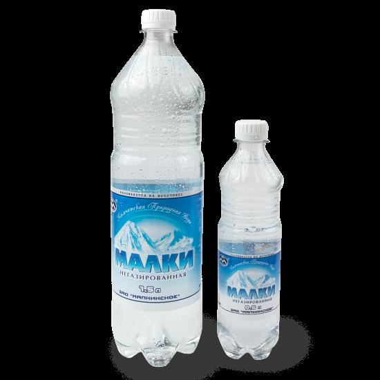 """""""Малки"""", минеральная питьевая столовая вода, негазированная, 0.5л"""