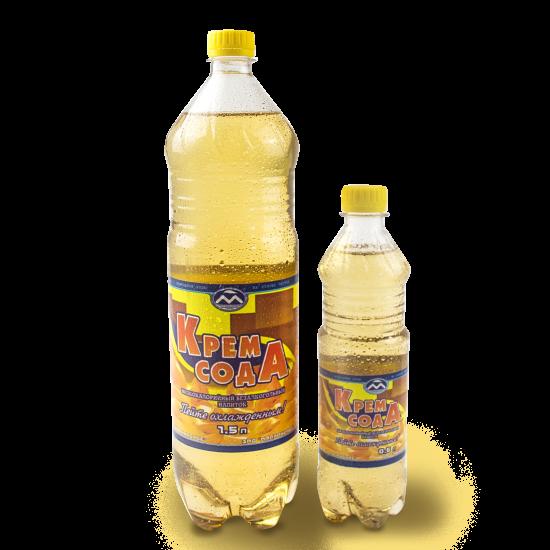 """Низкокалорийный безалкогольный напиток """"Крем-Сода"""", 1.5л"""