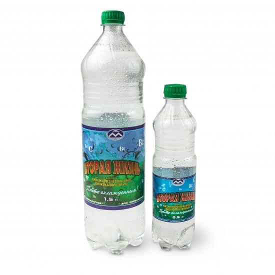 «Вторая жизнь», вода минеральная  питьевая газированная, 1.5 л