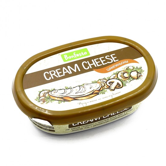 Сыр мягкий «CREAM CHEESE», м.д.ж 70% , с шампиньонами
