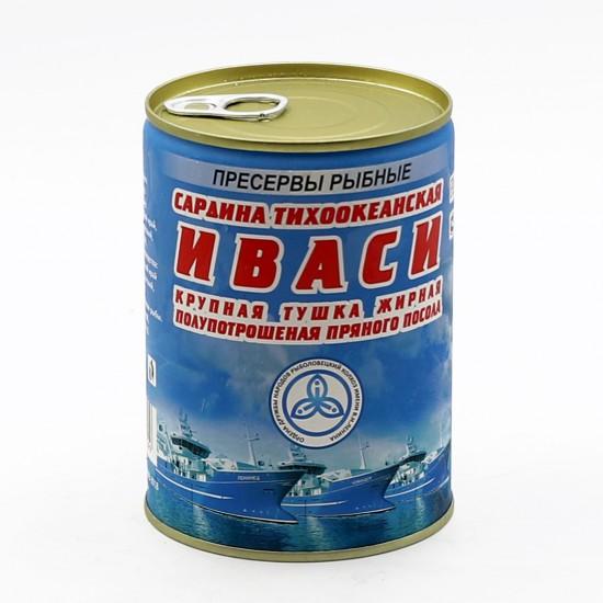 Сардина тихоокеанская ИВАСИ крупная тушка жирная  полупотрошёная пряного посола